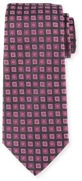 Armani Collezioni Neat Box Silk Tie, Pink/Gray
