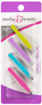 Studio 35 Mini 4 Piece Tweezer Set Assorted