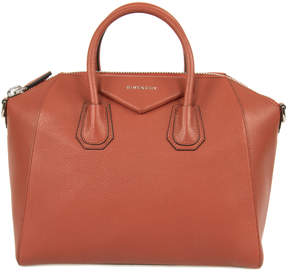 Givenchy Burnt Orange Antigona Leather Satchel