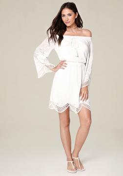 Bebe Sonya Off Shoulder Dress