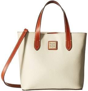 Dooney & Bourke Pebble Mini Waverly Handbags - BONE W/ TAN TRIM - STYLE
