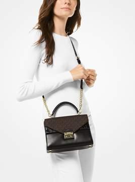 MICHAEL Michael Kors Sloan Leather and Logo Satchel