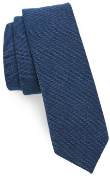 1901 Men's Verona Solid Cotton Skinny Tie