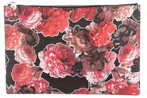 Givenchy Floral Print Zip Clutch