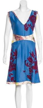 Christian Lacroix Embroidered Knee-Length Dress