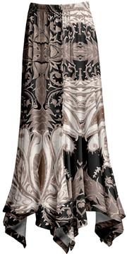 Lily Black & Beige Arabesque Handkerchief Maxi Skirt - Women & Plus