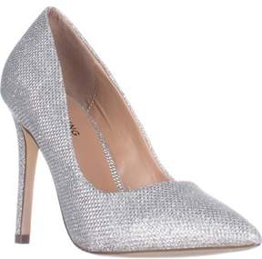 Call it SPRING Agrirewiel Pointed Toe Dress Pumps, Silver.