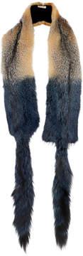 Marni Grey Fox Fur Stole