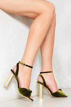 Nasty Gal nastygal It's Knot Over Velvet Heel