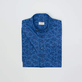 Club Monaco Short-Sleeve Dyed Floral Shirt