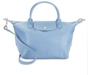 Longchamp Le Pliage Cuir Tote - LIGHT BLUE - STYLE