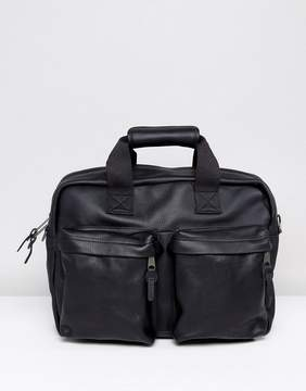 Eastpak Tomec Laptop Bag In Black Leather