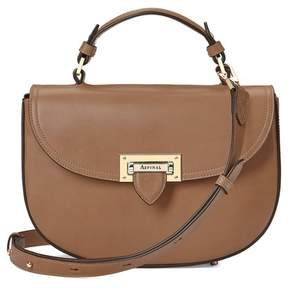 Aspinal of London Letterbox Saddle Bag In Smooth Natural Tan