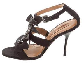 BCBGMAXAZRIA Embellished Caged Sandals