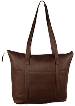 Women's David King Leather 583 Multi Pocket Shopping Bag