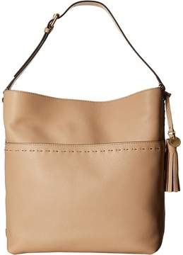 Cole Haan Ivy Pic Stitch Square Bucket Hobo Hobo Handbags