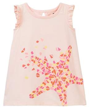 Tea Collection Sea Star Graphic Baby Dress (Baby Girls)
