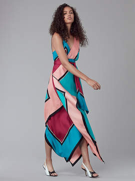 Diane von Furstenberg Asymmetric Scarf Dress