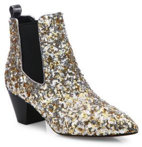 Marc Jacobs Kim Sequin Chelsea Booties