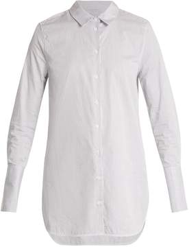 Equipment Artlette point-collar cotton shirt