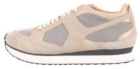 MM6 MAISON MARGIELA MM6 by Maison Martin Margiela Leather Low-Top Sneakers