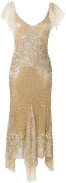 Amen sequinned asymmetric hem dress