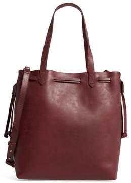 Women's Madewell Medium Transport Leather Bucket Bag - Burgundy