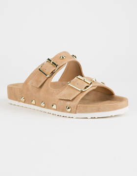Chinese Laundry Quinn Shimmer Tan Womens Sandals