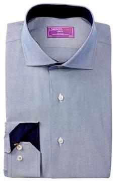 Lorenzo Uomo Solid Twill Trim Fit Dress Shirt