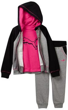 Puma Glitter Hoodie, Tee, & Joggers Set (Toddler Girls)