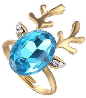 Alpha A A Christmas Gold Tone Deer Ears Adjustable Ring
