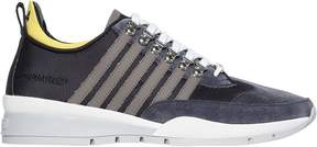 DSQUARED2 251 Tech Canvas & Suede Sneakers
