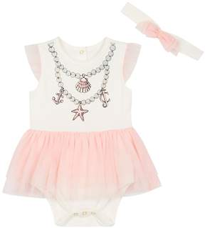 Juicy Couture Mermaid Tutu Onesie with Headband for Baby