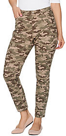Denim & Co. As Is Camo Printed Zip Front Ankle Pants