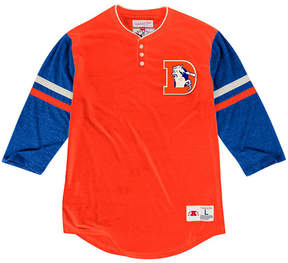 Mitchell & Ness Men's Denver Broncos Home Stretch Henley 2.0 Longsleeve T-Shirt