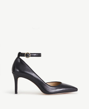 Ann Taylor Stephania Leather D'Orsay Pumps