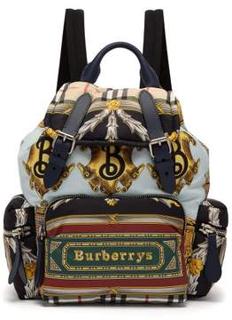 Burberry Archive Print Backpack - Womens - Blue Multi