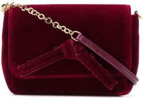 L'Autre Chose velvet crossbody bag