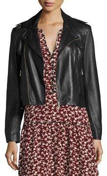 BA&SH Pacino Leather & Suede Motorcycle Jacket
