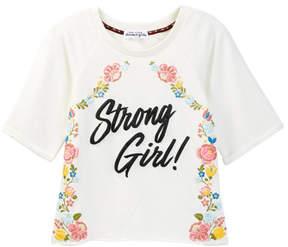 Ten Sixty Sherman Short Sleeve Strong Girl Raglan Puff Top (Big Girls)
