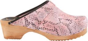 Cape Clogs Pink Snake Vegan Clog