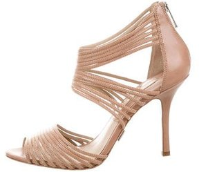 Michael Kors Leather Multistrap Sandals