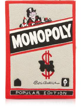 Olympia Le-Tan Olympia Le Tan Cotton and Wool Monopoly Popular Edition Book Clutch