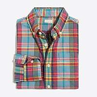 J.Crew Factory Boys' long-sleeve madras shirt
