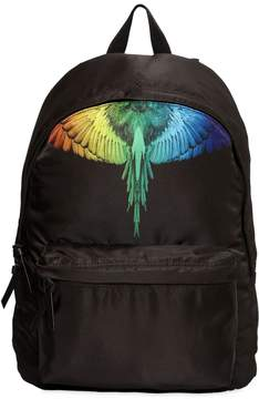 Marcelo Burlon County of Milan Rainbow Wing Canvas Backpack