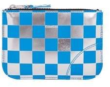 Comme des Garcons Women's Blue Leather Wallet.