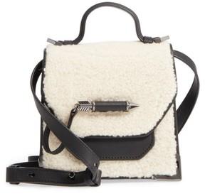 Mackage Mini Rubie Genuine Shearling Crossbody Bag - Black
