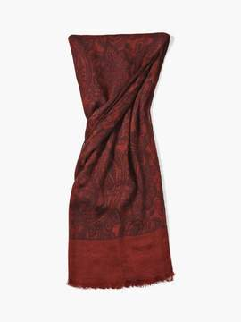 John Varvatos Woven Crinkled Paisley Scarf