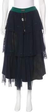 Kolor Tulle & Poplin Skirt