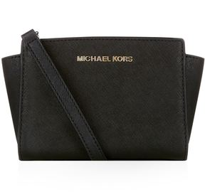 Michael Kors Mini Selma Messenger Bag - BLACK - STYLE
